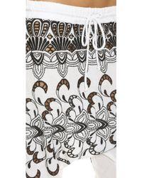 Surf Bazaar - Embroidered Harem Pants - White - Lyst