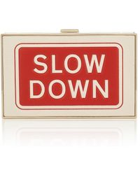 Anya Hindmarch   Imperial Slow Down Leather Clutch   Lyst