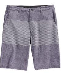 Volcom - Frickin V4s Striped Shorts - Lyst