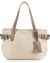 Henry Beguelin - Opale Woven Leather Tote Bag - Lyst