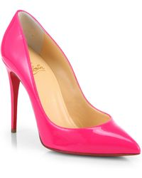 Christian Louboutin Pigalle Follies Patentleather Pumps - Lyst