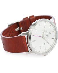Nixon | White/hazelnut Rollo Watch | Lyst