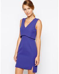 Oasis V Neck Bonded Dress - Lyst
