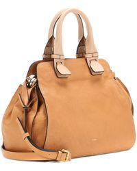 chloe tan leather handbag