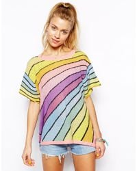 Wildfox White Label Daisys Girl Over The Rainbow Lake House Tshirt - Lyst