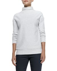 Theory Renika Mockneck Knit Sweatshirt - Lyst