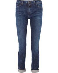 Karl Lagerfeld Karla Mid-Rise Straight-Leg Jeans - Lyst
