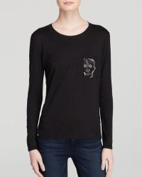 Umano - Tee - The Classico Long Sleeve With The Skull - Lyst