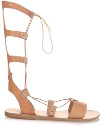 Ancient Greek Sandals Thebes Gladiator Lace-Up Leather Sandals - Lyst