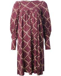 Biba Grid Print Dress - Lyst