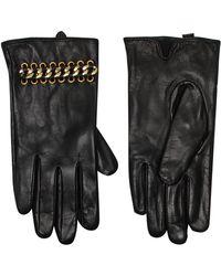 Kurt Geiger - Leather & Chain Gloves - Lyst
