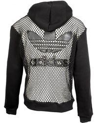 Jeremy Scott for adidas Jeremy Scott X Adidas Black Netted Hoodie Classic Edition
