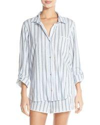 Lucky Brand - Print Cotton Short Pajamas - Lyst
