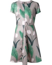 Suno Tulip Print Dress - Lyst