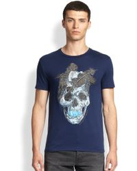 Alexander McQueen Feather-skull Graphic Tee - Lyst