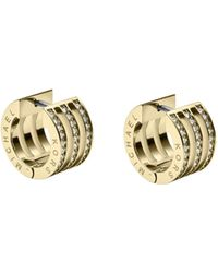 Michael Kors Pavé Embellished Gold Tone Bar Earrings - Lyst