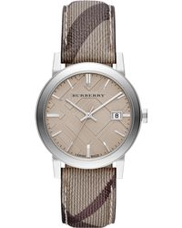 Burberry - Bu9029 Men's The City Haymarket Check Fabric Strap Watch - Lyst