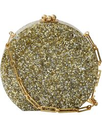 Edie Parker Oscar Glittered Acrylic Shoulder Bag - Metallic