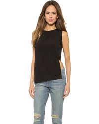 Cheap Monday Fay Tank - Black - Lyst