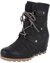 Sorel | Joan Of Arctic Leather Wedge Boots | Lyst
