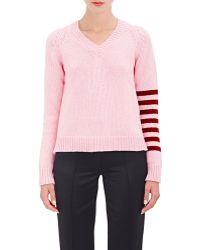 Alexander Lewis | Open Back V-neck Sweater | Lyst