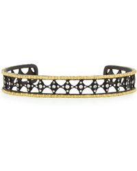 Armenta - Old World Midnight Large Cravelli Cuff With Diamonds - Lyst
