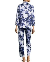 Oscar de la Renta - Magnolia Reflections Printed Pyjama Set - Lyst
