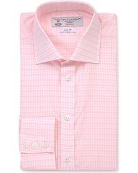 Turnbull & Asser Slim Check-Printed Cotton Shirt - For Men - Lyst
