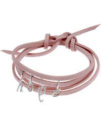 Dalla Nonna Little Letter Wrap Bracelet In Silver - Lyst