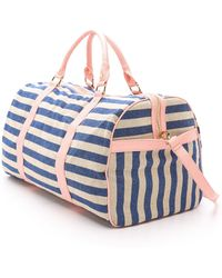 Deux Lux - Striped Baha Weekender - Blue - Lyst