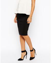 Asos Maternity Midi Tailored Pencil Skirt - Lyst
