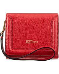 Alexander McQueen Mcq Heroine Clutch Wallet Red - Lyst