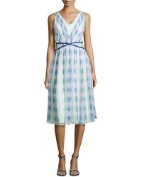 Shoshanna Monet Plaid Georgette Dress - Lyst