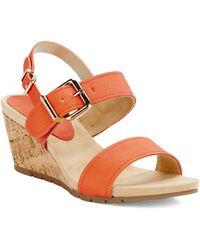 Bandolino Gladis Slingback Wedge Sandals - Lyst