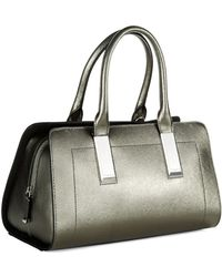 Calvin Klein Leather Satchel - Lyst