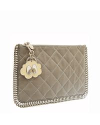 Stella McCartney Grey Falabella Quilted Pouch - Lyst