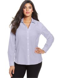 Jones New York Collection Plus Size Easy Care Long-Sleeve Shirt - Lyst