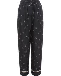 Alexander McQueen Skull Silk Pajama Set - Multicolor