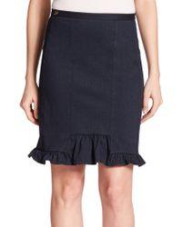 Diane von Furstenberg Serenity Denim Skirt - Lyst