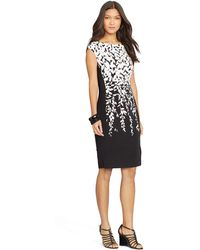Lauren by Ralph Lauren Printed Jersey Dress - Lyst