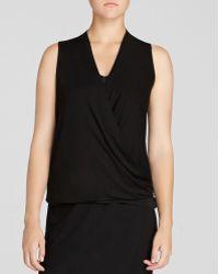 Eileen Fisher Drape Front Sleeveless Top - Lyst