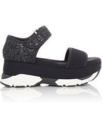 Marni | Neoprene & Glitter Platform Sandals | Lyst