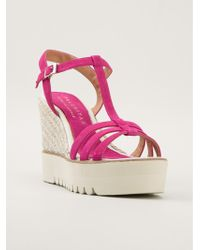 Palomitas By Paloma Barcelo' Tbar Wedge Sandals - Lyst