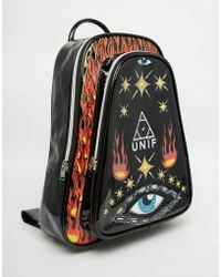 UNIF | Notion Backpack With Eye And Fire Print | Lyst