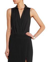 Donna Karan - Stretch Cotton-blend Bodysuit - Lyst