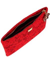 Dolce & Gabbana Red Lace Pouch Bag