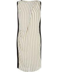Nicole Farhi Ticking Stripe Dress - Lyst