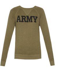 NLST - Army-print Cotton-jersey Sweatshirt - Lyst