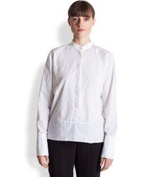 Marni Cotton Poplin Bib Shirt - Lyst