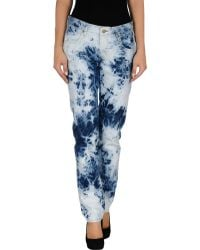 Textile Elizabeth And James Denim Trousers - Lyst
